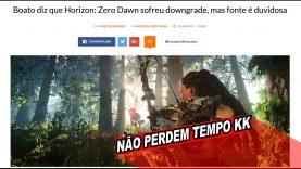 WTF! Horizon Zero Dawn sofreu DOWNGRADE