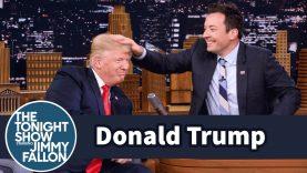 Donald Trump Lets Jimmy Fallon Mess Up His Hair