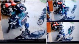 A difícil tarefa de uma mulher em retirar a sua mota do estacionamento… WTF!