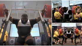 Fez agachamento com 456kg e bateu o recorde mundial… WTF!