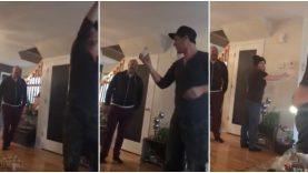 Mágico apresenta em primeira mão um novo truque de magia à família… WTF!